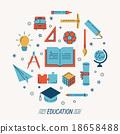 Set of education icons 18658488