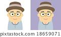 사람, 벡터, 노인 18659071