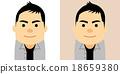 중년 남성의 일러스트 18659380