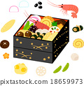 multi-tiered box, stacked box, new year dishes 18659973