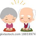 老人 夫婦 一對 18659974