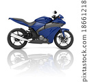 Motorbike Motorcycle Bike Roadster Transportation Concept 18661218