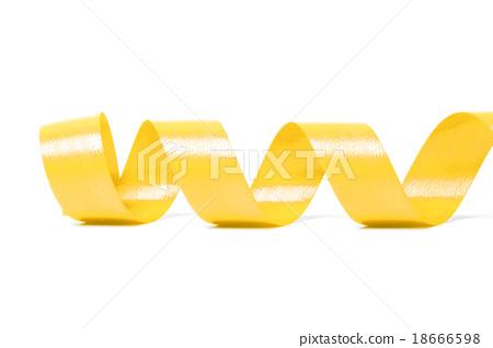 yellow satin ribbon 18666598