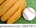 Rigid baseball ball and glove 18667871