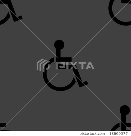 disabled web icon. flat design. Seamless pattern. 18669377