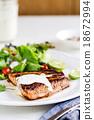 Glazed Salmon with salad 18672994