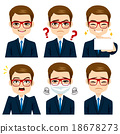 Businessman Expressions Set 18678273