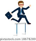 Businessman Jumping Hurdle 18678289