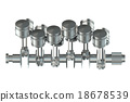 V12 engine pistons 18678539