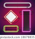 Neon Lights Rectangle Frames Set 18678835