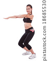 Sport woman stretching exercise. Fitness concept 18685530