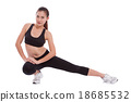 Sport woman stretching exercise. Fitness concept 18685532