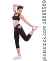 Sport woman stretching exercise. Fitness concept 18685569
