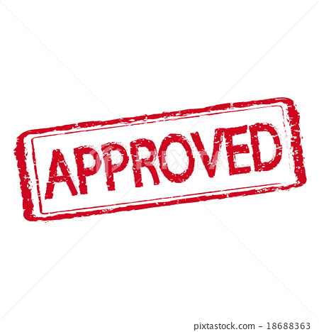 stamp approved text 18688363