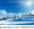 Winter mountain fir forest landscape 18689236
