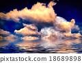 Beautiful sunset over sea 18689898