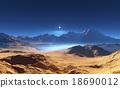 Fantasy desert landscape 18690012