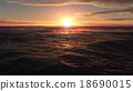 Sunset over the ocean, Sunset over the sea 18690015