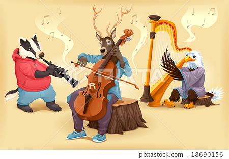 Musician cartoon animals 18690156