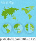 World map 8 bit air and compass of vector 18698335