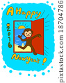 vector, vectors, new year's card 18704786