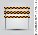 vector illustration of road barrier against 18707511