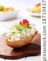 烘烤的 馬鈴薯 土豆 18710437