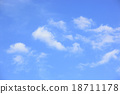 blue sky with some white clouds in summer 18711178