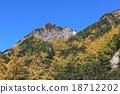 上高地 桩 山峰 18712202