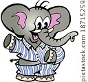 Happy Baby Elephant in Pajamas 18715259