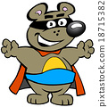 illustration of an Happy Strong Super Hero Bear 18715382