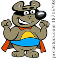 illustration of an Happy Strong Super Hero Bear 18715498