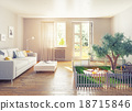 picnic in a home interior 18715846