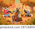 Musician animals in the wood 18716869