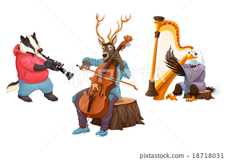 Musician cartoon animals 18718031