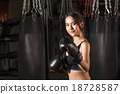 Portrait of sporty fit Asian model of boxing gym 18728587