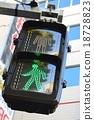 紅綠燈 交通燈 綠光 18728823