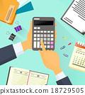 business, calculator, desk 18729505