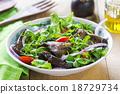 Grilled Aubergine salad 18729734