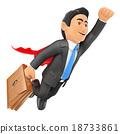 flying, man, businessman 18733861