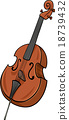 double bass cartoon clip art 18739432