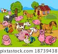 farm animals cartoon illustration 18739438