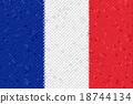 France Flag Mosaic 18744134