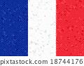 France Flag Mosaic 18744176