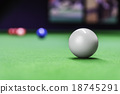 Snooker ball on snooker table 18745291