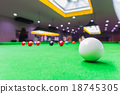 Snooker ball on snooker table 18745305