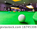 Snooker ball on snooker table 18745306