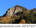 上高地 桩 山峰 18747407