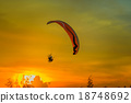 Paramotor Flying Silhouette 18748692