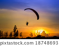 Paramotor Flying Silhouette 18748693